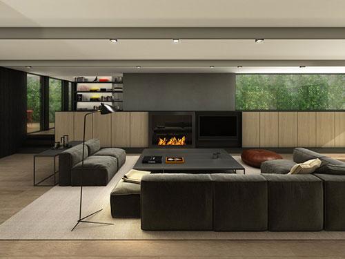 Tegels in woonkamer  Interieur inrichting