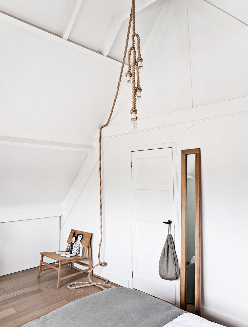 Touw lamp  Interieur inrichting