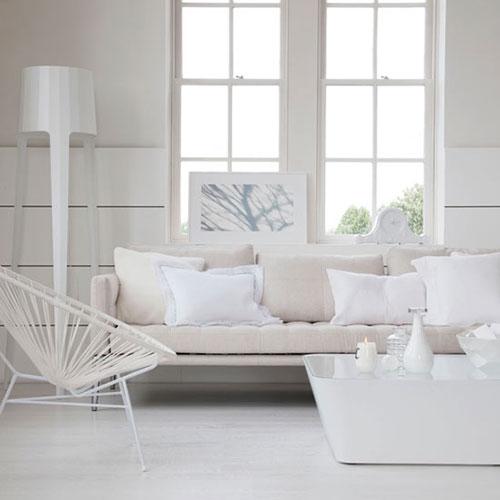 Witte woonkamer inrichten  Interieur inrichting