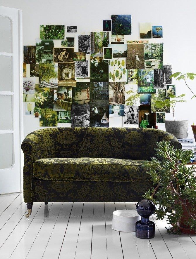 een groen interieurinterieur website