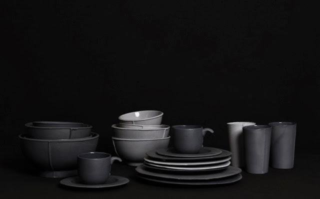 TableWare Alexa Lixfeld | Donkere tinten voor servies | Grijs en Zwart | Moody colors | Black Grey