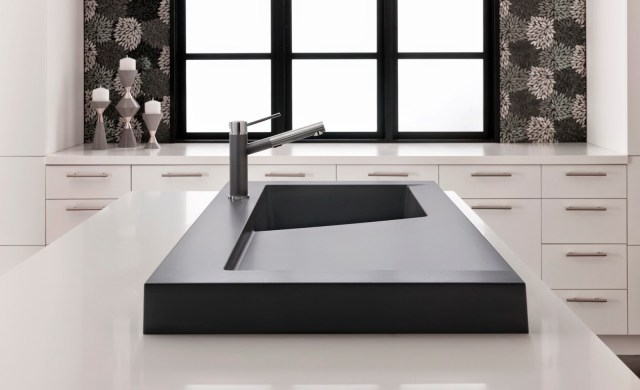 Minimalistic modern kitchen design | BLANCO MODEX™  sink in anthracite | BlogtourNYC