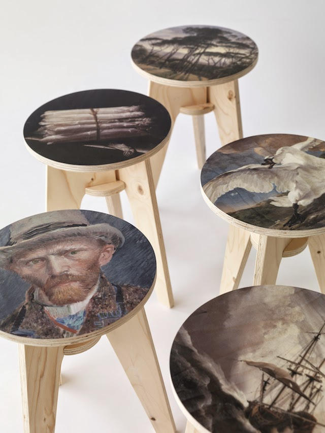 Plywood Print Stool | Piet Hein Eek | Rijksmuseum Amsterdam | where the Dutch Masters meet Dutch Design