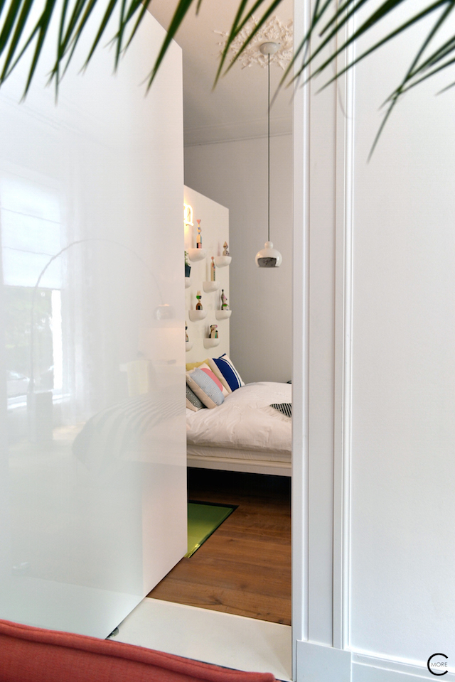 Vitra Design Kwartier Den Haag Studio van t Wout bedroom highgloss door white corniches