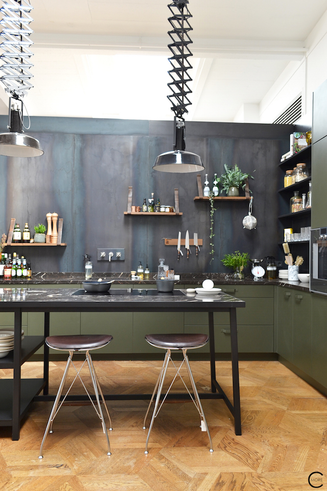 The Loft Amsterdam The Playing Circle August 2015 kitchen marble green inspiration styling b