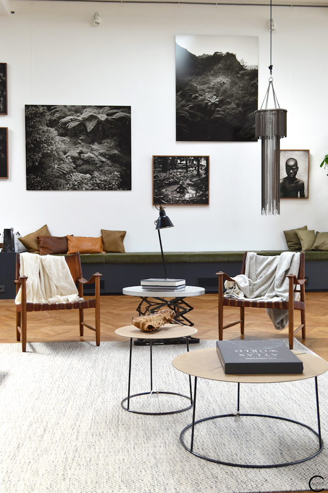 The Loft Amsterdam The Playing Circle August 2015  living room styling b&w photo green sofa