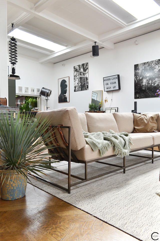 The Loft Amsterdam The Playing Circle August 2015 living sofa plant green