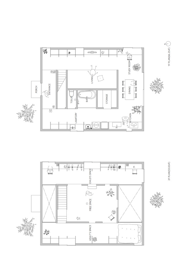 mA-style architects Ant house ant-house plan