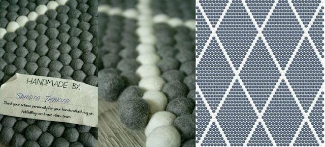 Felt rugs by Sukhi Stylish + minimal