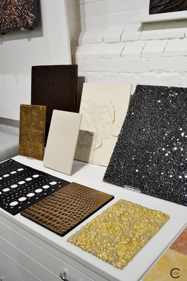 Fabric + Gold + Leather + Texture + Paillette | Material Heaven | Fameed Hkalique London | visited with Modenus #LondonBlogtour #Designhounds | Luxury interior trend