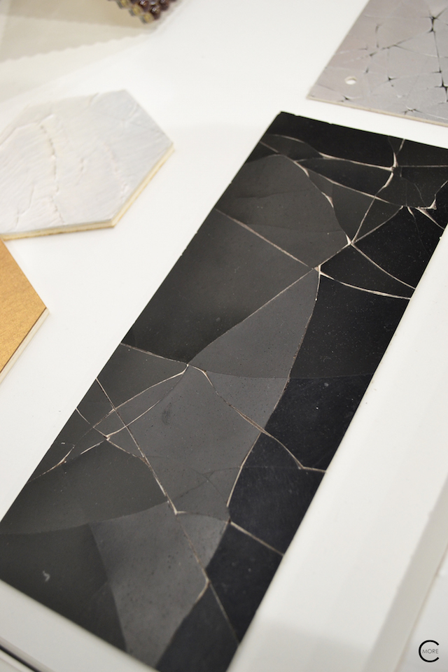 Black broken surface | Material Heaven | Fameed Hkalique London | visited with Modenus #LondonBlogtour #Designhounds | Luxury interior trend