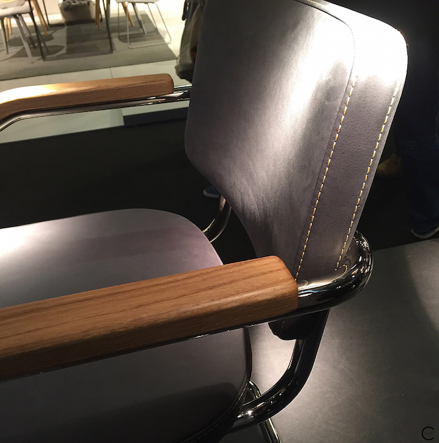 Thonet IMM Cologne 2016 | leather - wood - chrome | picture by C-More