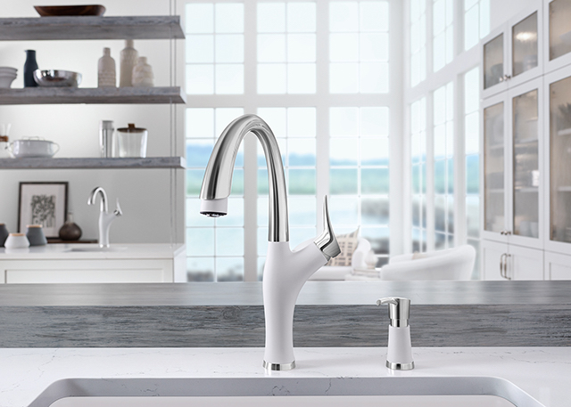 Blanco | white ARTONA faucet and soap dispenser | BlogtourKBIS 2016