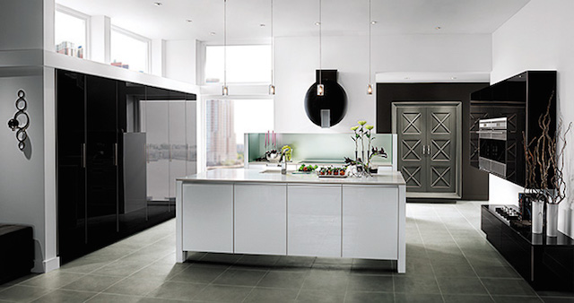 Penthouse View   Contemporary Kitchen Cabinets   Wood-Mode
