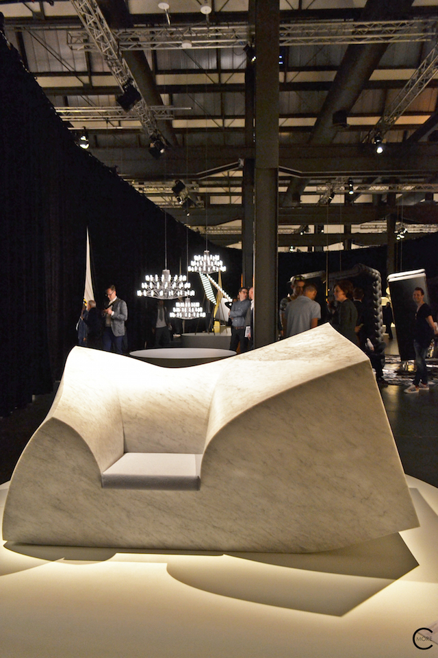 Paul Cocksedge | Compression sofa | In the spotlight | Moooi Milan Designweek 2016 by C-More