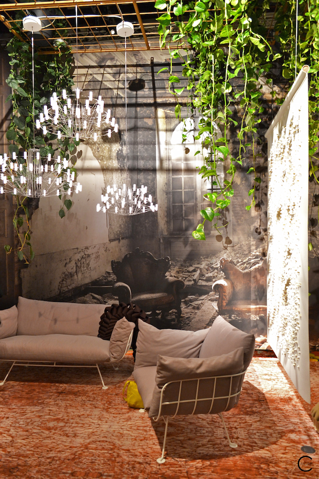 Lighting | Rug | Sofa | Behind the scenes furniture setting | Moooi Milan Designweek 2016 by C-More