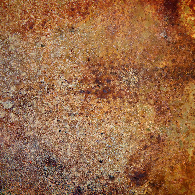 strongly rusty metal plate wallpaper | Pixers | roest foto behang