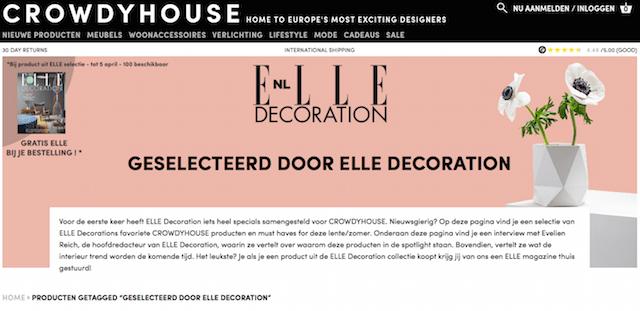Crowdyhouse | Elle Decoration selection 2017