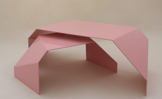 Fold Tables-Mini, Light Pink-Pre Production By MAAG | Crowdyhouse | Elle Decoration selection 2017