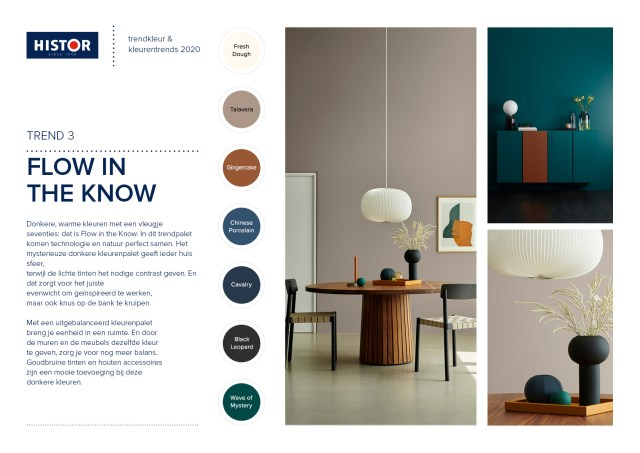 Histor-trendsheet Trend color 2020 | Flow in the Know | C-More