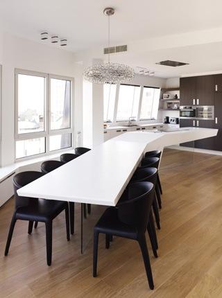 cuisine avec ilot central table