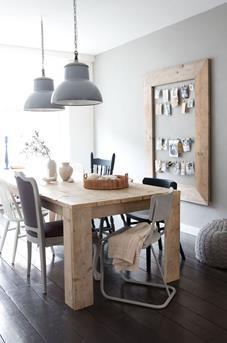 Twee lampen boven de eettafel  Interieur Inspiratie