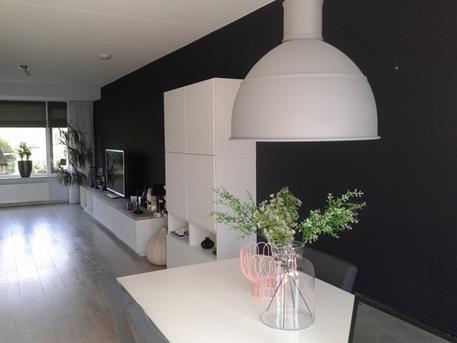 Een donkere muur in je interieur  Interieur Inspiratie