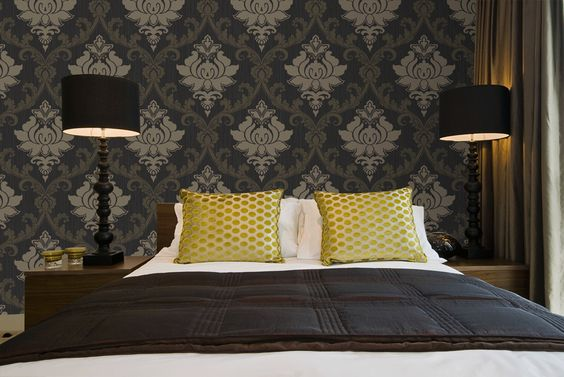 barok behang in de slaapkamer