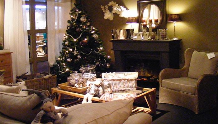 Kerst Achtergrond Woonkamer