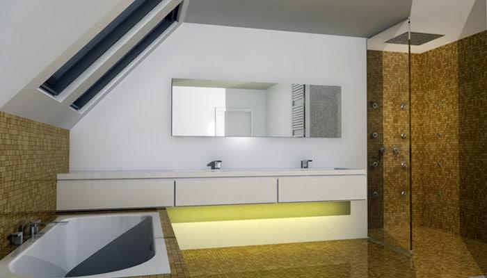 Moderne badkamers voorbeelden en fotos ontwerpen
