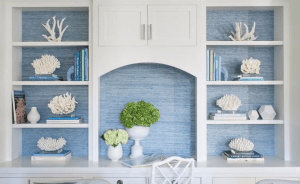 Paint or wallpaper your bookcases.