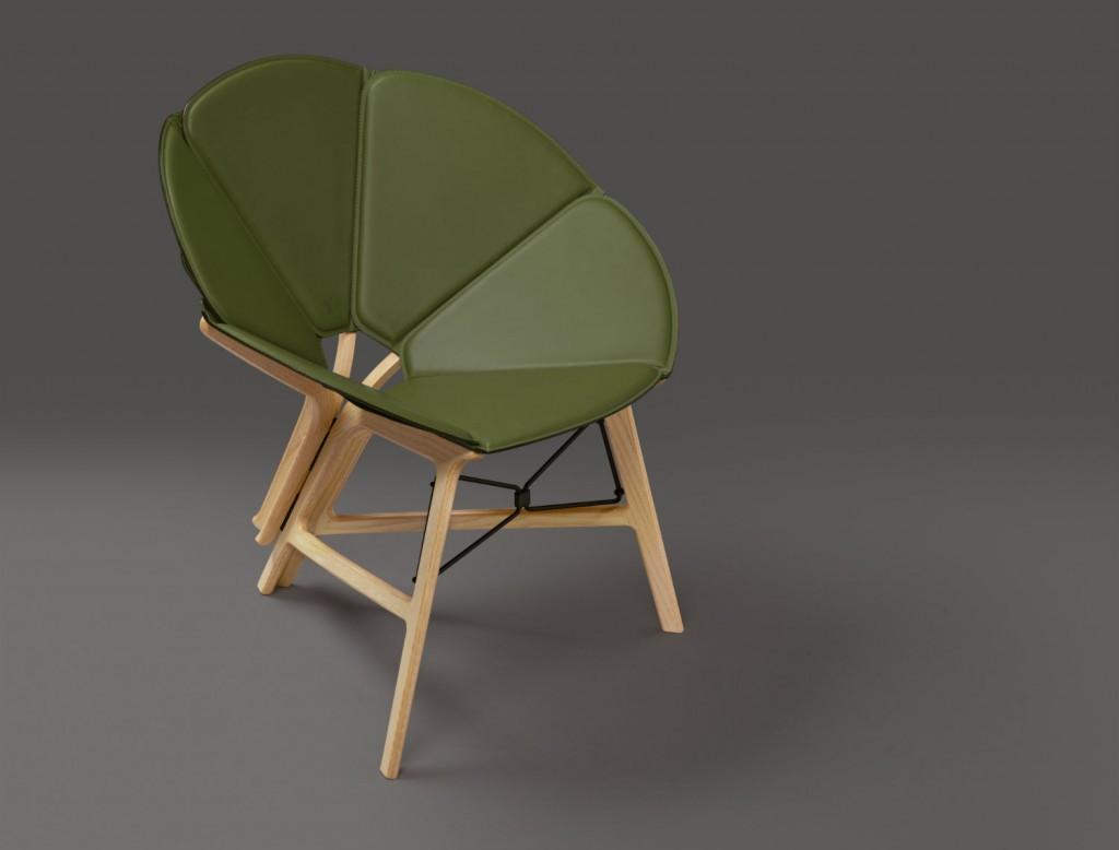 Silla Concertina, diseño de Raw Edges para Louis Vuitton. Fotografía: cortesía Louis Vuitton Malletier.