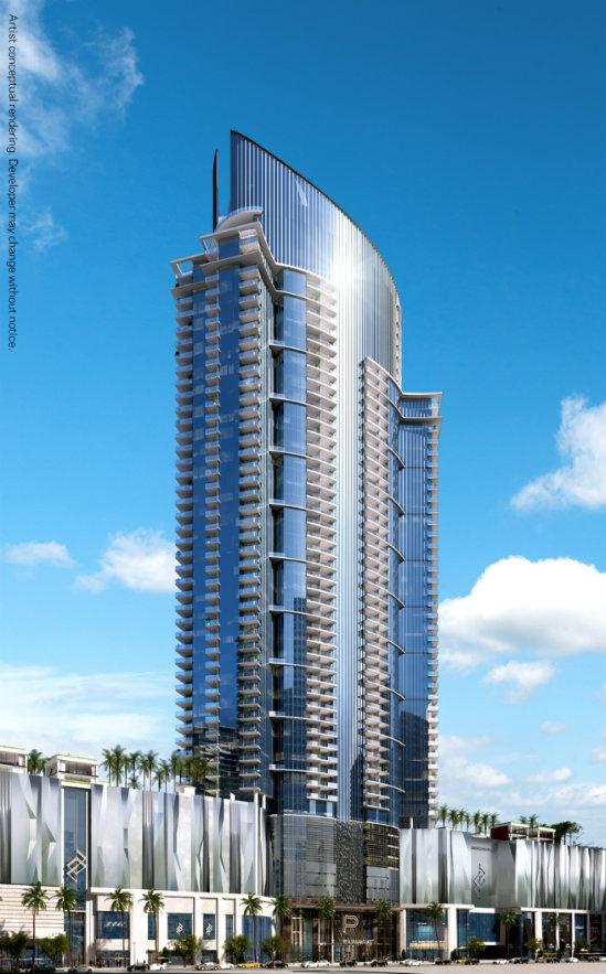 Torre Paramount, en Miami. Render: cortesía Expo Hábitat Bogotá.