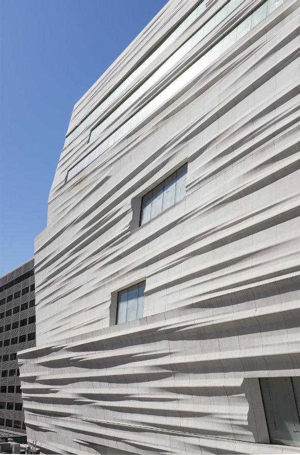 Detalle de la fachada. Fotografía: © Iwan Baan, cortesía, SFMOMA.
