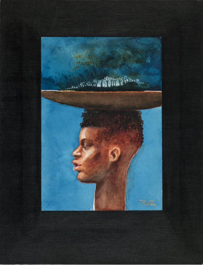 Bosque Nativo. Acuarela sobre papel, 18 x 12,5 cm. 2016. Cortesía, Beatriz Esguerra Arte.