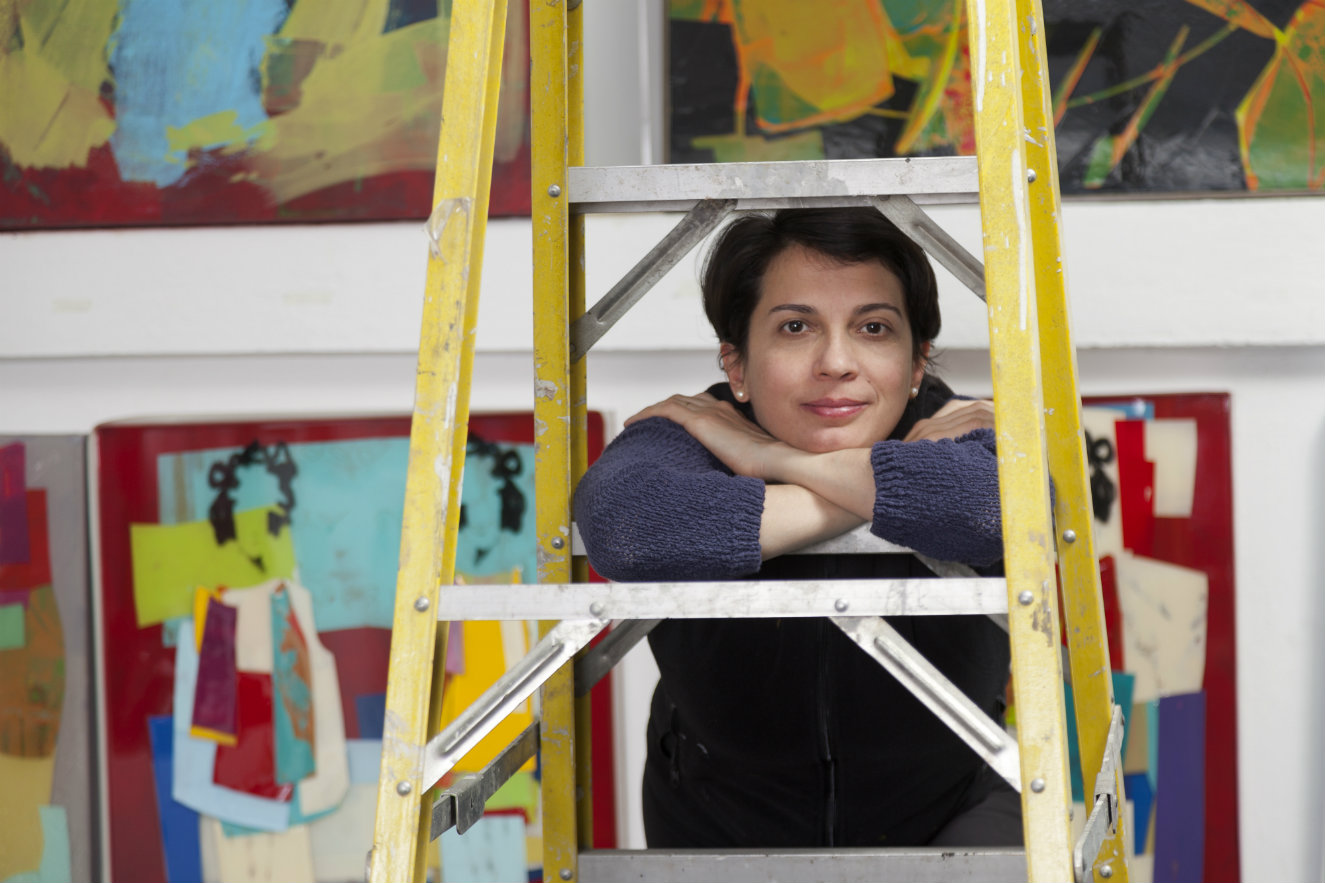 Carolina Convers en su taller. Fotografía: cortesía, Beatriz Esguerra Art.