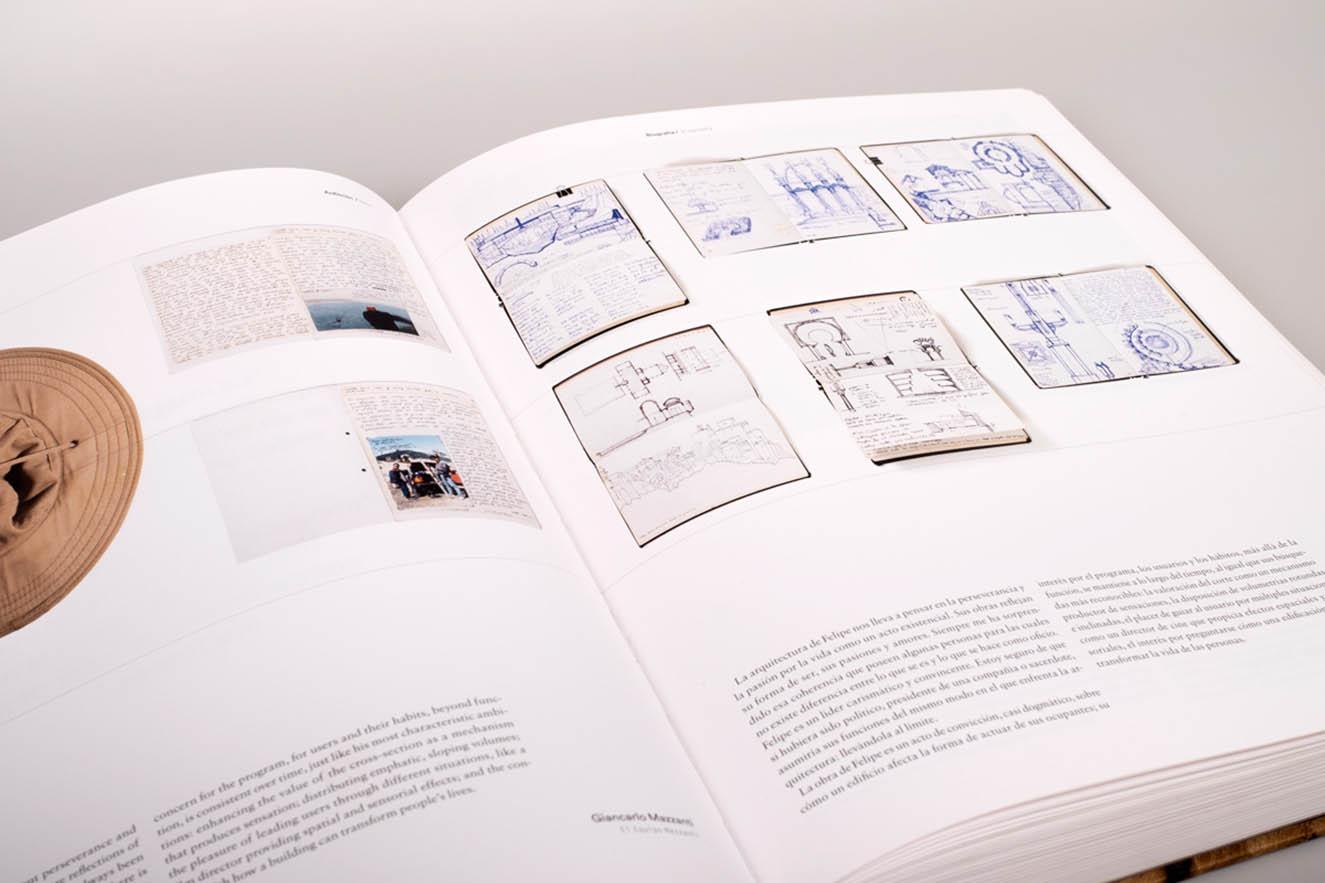 Este libro exhaustivo es tantoun compendio de su obra construida como un archivo de su trabajo cotidiano.