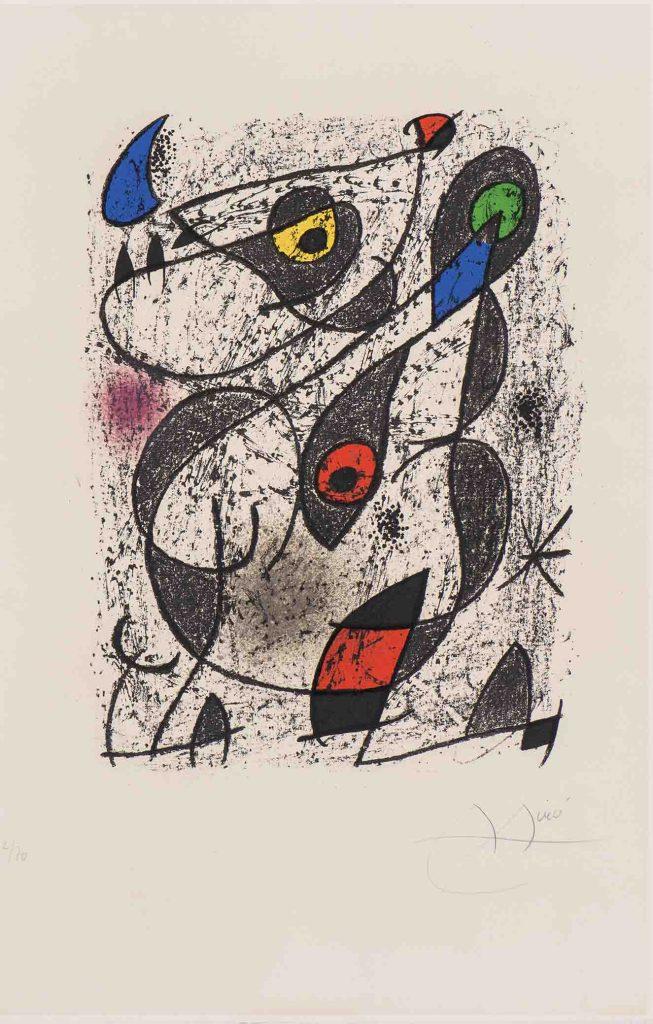 Joan Miró. Sin título. 1972. Litografía sobre papel. Edición 12 de 70. 33 x 25 cm.