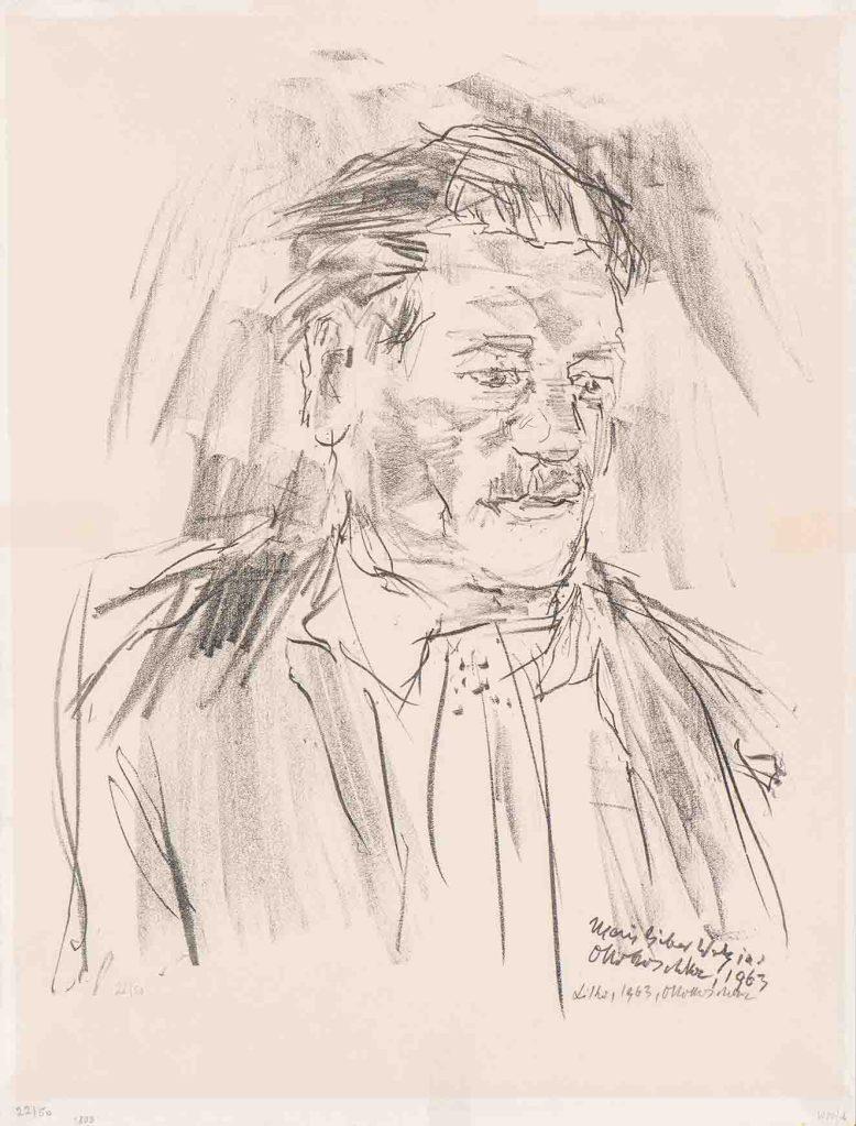 Oskar Kokoschka. Retrato de Friedrich Welz. 1963. Litografía sobre papel. Edición 22 de 50. 65 x 50 cm (tamaño del papel). Fotografía : cortesía Bogotá Auctions.