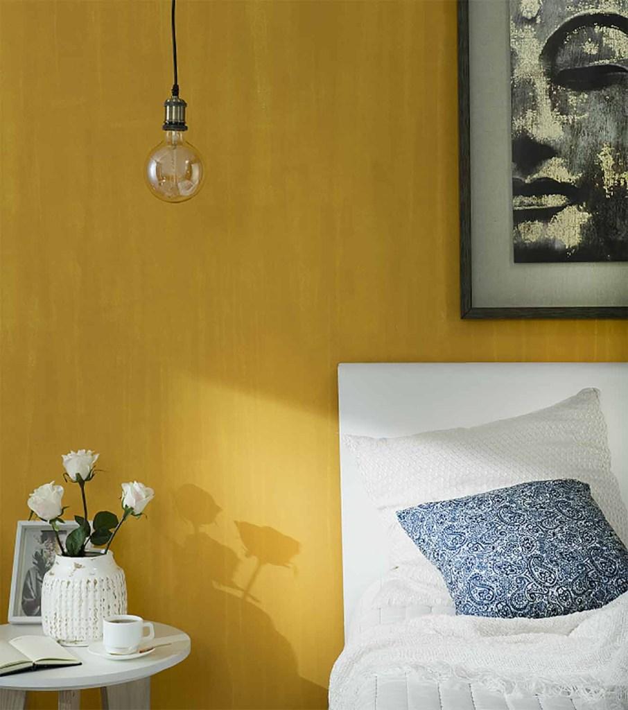 Para darle vida a un dormitorio, el color Viseu de Pinturas Kölor es una buena opción. Fotografía: cortesía.