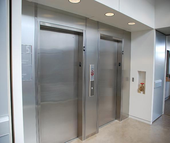 elevator smoke containment interior