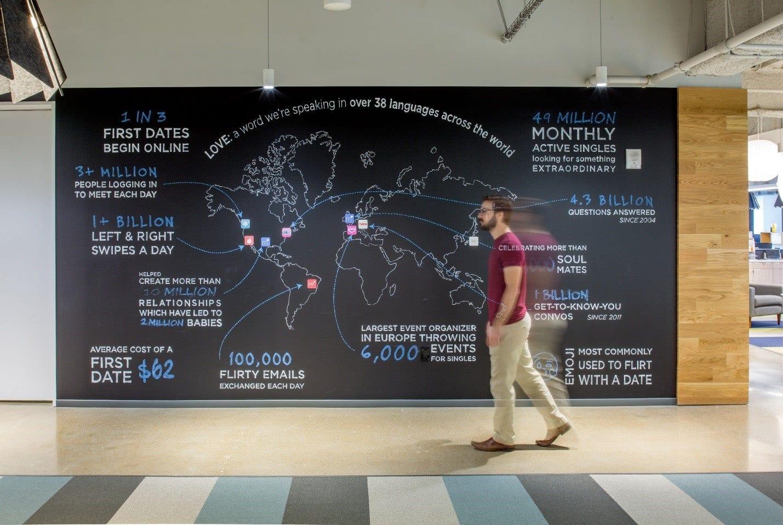 EGD Map in Match.com's Headquarters