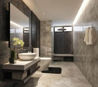 Small Marble Tiles Bathroom Design Id683