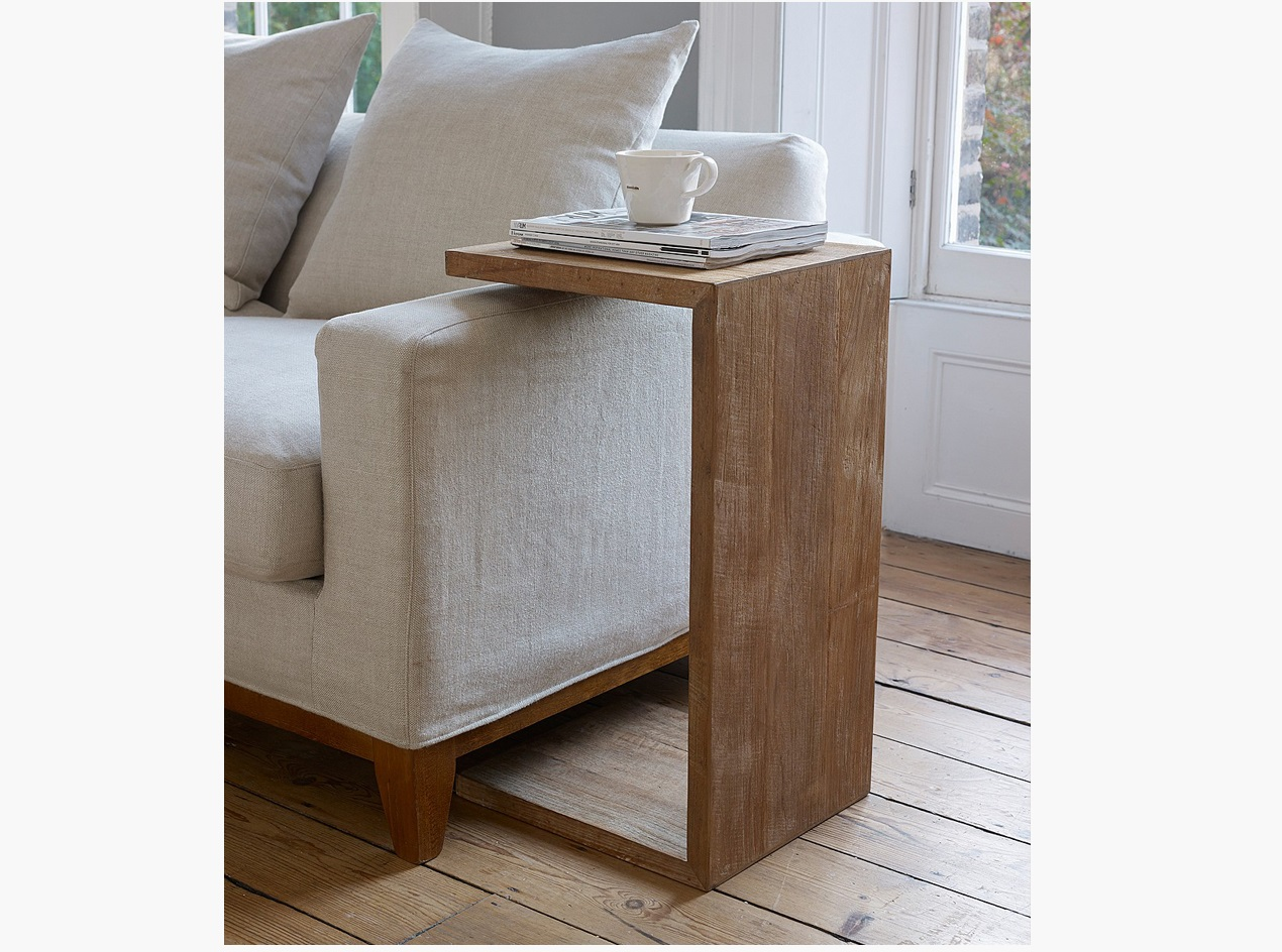 sofa side table wood cheap chaise lounge u shape with and wooden flooring id774
