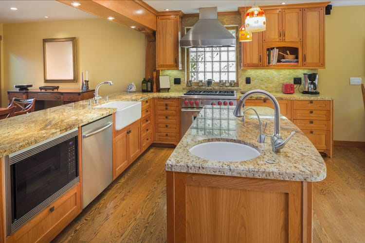 kitchen sink island wall tile for farmhouse appliances tips and review light stained