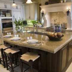 Islands For The Kitchen L Shaped Table 36 Eye Catching Pictures This Is Part Of An Open Concept Layout Visible From Both Dining And Living Areas Reason Owners Decided To Go With A Formal Look