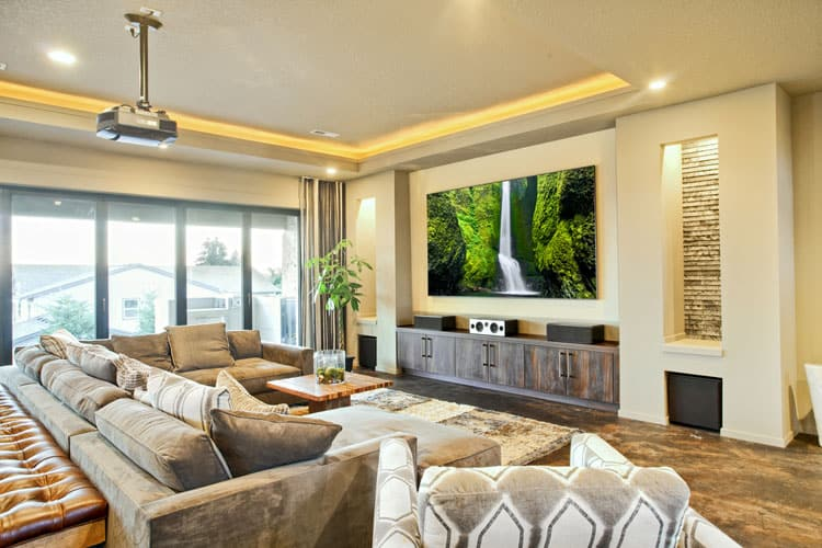 latest living room design layout ideas rectangular 28 elegant designs pictures skip the theater this is place to watch blockbuster sectional sofa features ample seating plus a chaise lounge and its