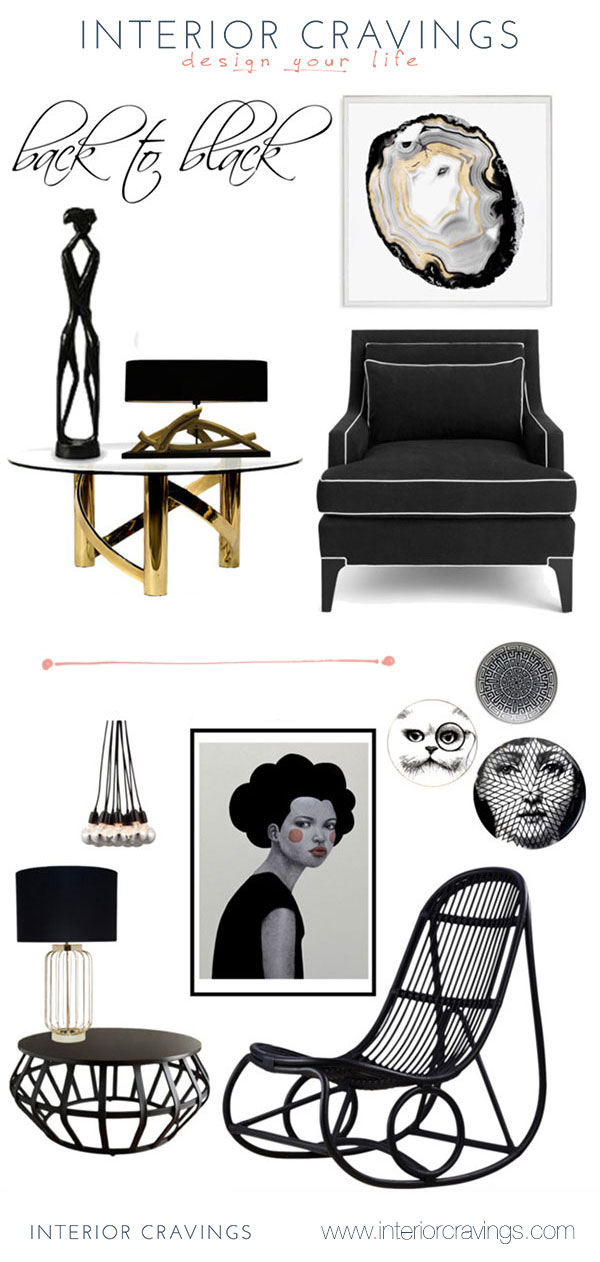 craving black details in interior design