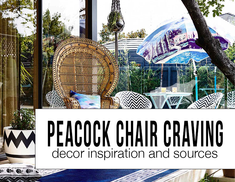 peacock chair decor inspiration and sources 2