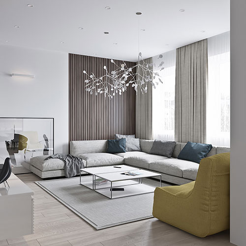 Neutral Color Definition: NEUTRAL MODERN APARTMENT By ANTON SUKHAREV